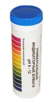 Бумага индикаторная 0-12 pH в тубе - фото 4743