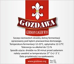 Пивные дрожжи «Gozdawa German Lager W35 (GLW35)», 10 гр - фото 6081