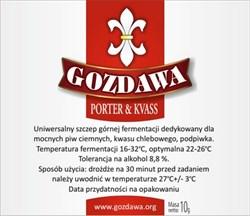 Пивные дрожжи «Gozdawa Porter & Kvass (POKV)», 10 гр - фото 8598