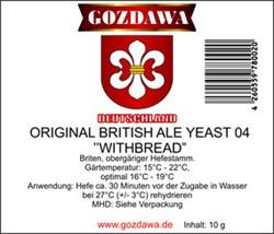 Дрожжи «Gozdawa British Ale Withbread», 10 гр - фото 8599