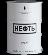 Банка водочная жестяная «Нефть», белая, 0.7 л