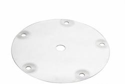 Крышка куба, горло 12 см, 5 шпилек, отверстие 14 мм (для брожения) - фото 14484
