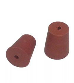 Пробка коническая с отверстием, резиновая 13/10 мм - фото 14953