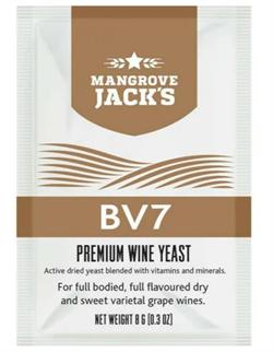 Винные дрожжи Mangrove Jack BV7 для ароматизированных сухих и сладких белых вин - фото 15244