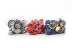 Кроненпробки цветные, жёсткие, ФИН - фото 5033