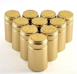 Термоколпачек для винных бутылок. Золотой, 100 шт. - фото 5234