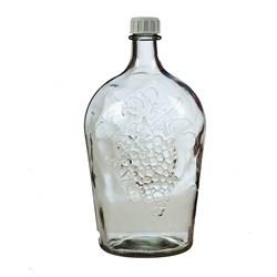 """Бутылка стеклянная """"Ровоам"""" (красный матовый декор), 4500 мл - фото 5480"""
