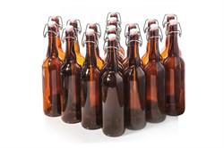 Бутыль коричневая с бугельной крышкой 0,75 - фото 5667