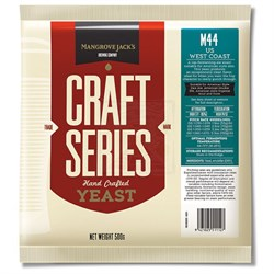 Пивные дрожжи «Mangrove Jack's Craft Series Yeast — US West Coast M44», 500 гр - фото 5698