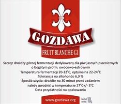 Пивные дрожжи «Gozdawa Fruit Blanche G1 (FBG1)», 10 гр (Пшеничное пиво, Бельгийский Эль, Фруктовое пиво) - фото 6078