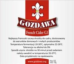 Дрожжи для сидра «Gozdawa French Cider G1 (FCG1)», 10 гр - фото 6079