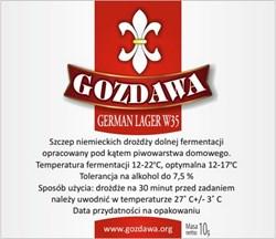 Пивные дрожжи «Gozdawa German Lager W35 (GLW35)», 10 гр ( Светлый Лагер, Пильзнер, Бок, Все Лагеры, Янтарный Лагер, Темный Лагер) - фото 6081
