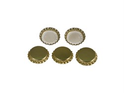Кронен-пробки 26 мм, золотые (жесткие), 100 шт (Л) - фото 6287