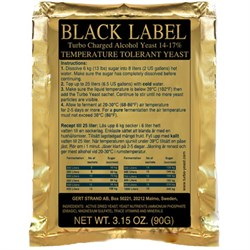 Сухие спиртовые дрожжи Black Label Turbo - фото 6306