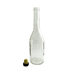 Бутыль водочная 0.5 с пробкой - фото 6375