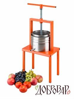 Пресс винный фруктово-ягодный напольный 5 л - фото 6492