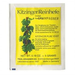 Дрожжи сухие гранулированные Kitzinger Champagner 5 gr - фото 6719