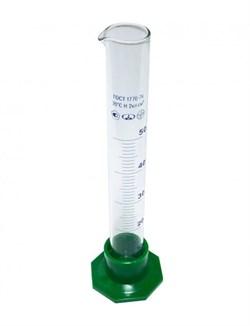 Цилиндр мерный на 50 мл., с делениями (3-50-2) - фото 6782