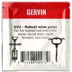 Винные дрожжи «Gervin — GV2 Robust Wine» для крепленых и насыщенных вин, 5 гр - фото 6797