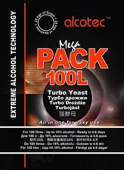 Спиртовые турбо дрожжи «Alcotec MegaPack» на 100 л, 360 гр - фото 6925