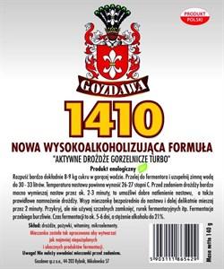 Спиртовые турбо дрожжи «Gozdawa 1410 Turbo», 140 гр - фото 6926