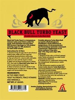 Спиртовые турбо-дрожжи Black Bull Turbo Yeast 14-18% Yeast - фото 6928