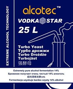Спиртовые водочные дрожжи «Alcotec — VodkaStar Turbo», 66 грамм - фото 6958