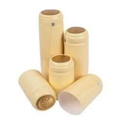 Термоколпачки для бутылок, 33*55, Кремовые с отрывной частью, 100 шт (Л) - фото 7143