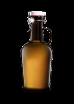 Бутыль 2 литра, темное стекло, бугельная крышка - фото 7182