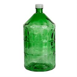 Бутыль тёмная зеленая из толстого стекла, 22 литра с закручивающейся крышкой - фото 7391