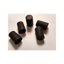 Термоколпачки для винных бутылок 32х40мм - черные с отрыв. частью, 1 шт - фото 7633