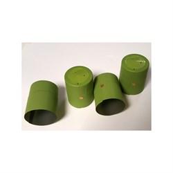 Термоколпачки для винных бутылок 32х40мм - салатовые с отрыв. частью, 1 шт. - фото 7636