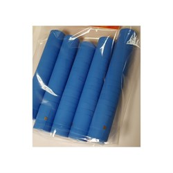 Термоколпачки для винных бутылок 32х40мм - голубые с отрыв. частью, 100 шт - фото 7637
