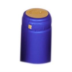 Термоколпачки для винных бутылок 31х55 - синие c отрыв. частью - фото 7639