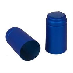 Термоколпачок для бутылок 31.5х40 мм, синий с тд - фото 7641