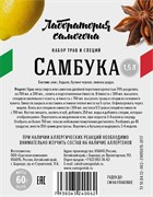 Этикетка (наклейка) на бутылку настойка «Самбука»