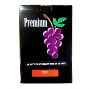 Виноматериалы для приготовления вина PREMIUM MERLOT ROSE (пластиковая канистра 5 литров, дрожжи, осветлитель)