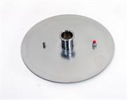 """Крышка для куба Luxstahl 50 л. кламп 2"""",плоская (3мм)"""