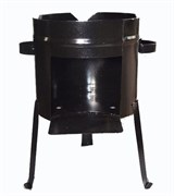 Печь для казана, металл 2 мм, 22 л