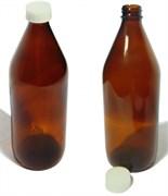 Бутылка стеклянная с крышкой и прокладкой, оливк. цвет, 1 л