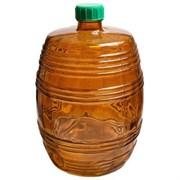 """Банка стеклянная """"Бариле"""" 10 литров коричневая с крышкой"""