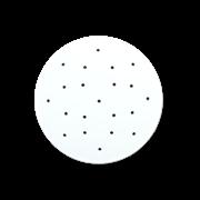 Крышка-вкладыш перфорированная полимерная для подпрессовки d195*4 мм