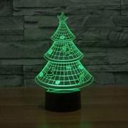 """3D лампа """"Ёлка"""",(светодиодный ночник)"""