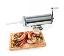 Шприц колбасный горизонтальный, 2,5 кг (3 насадки пластик)