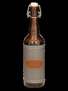 """Бутыль (цветное стекло с декором) """"Bordo EL BM"""" 750 мл"""