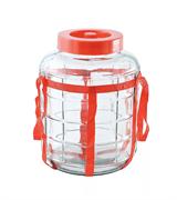 Банка стеклянная GL-70 с гидрозатвором и переноской — 9 литров