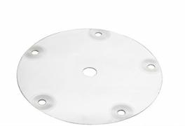 Крышка куба, горло 12 см, 5 шпилек, отверстие 14 мм (для брожения)