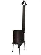 Печь для казана с дверцей и дымоходом, 16 л