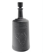 Бутылка стеклянная «Ностальгия» (черный матовый декор), 3000 мл