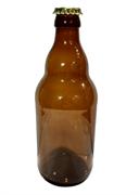 Пивная бутылка темная с кронен пробкой 0,5 Мохнатый шмель